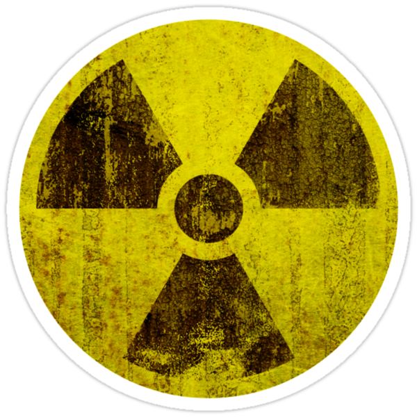 Rusted Radioactive Symbol Stickers By Staticnoise Redbubble