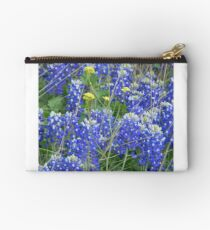 Bluebonnets and Wild Mustard Studio Pouch