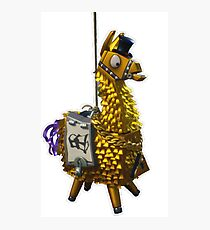 Fortnite Llama Pinata Gold Photographic Print