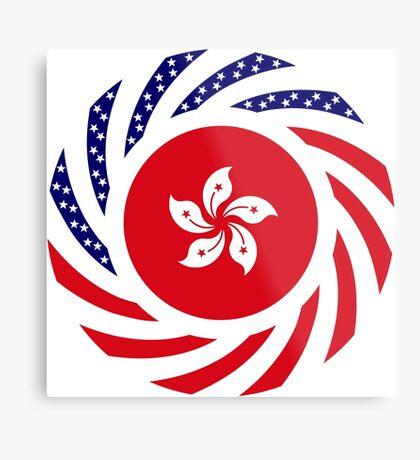 Hong Kong American Multinational Patriot Flag Series Metal Print