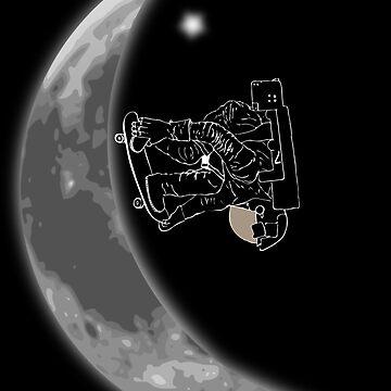 Moon Half-Pipe mit Skateboard-Astronaut von Upbeat