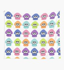 Splatoon 2 Squid Pattern Colours Wall Tapestry