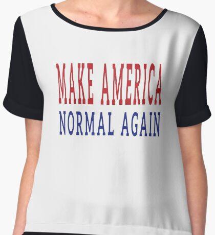 Make America Normal Again Women's Chiffon Top