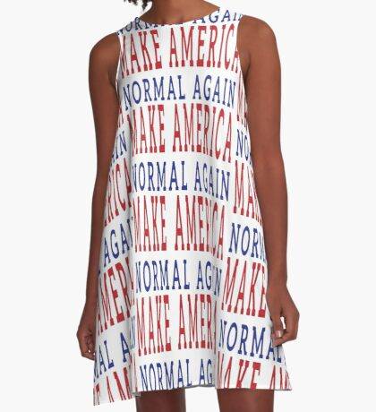 Make America Normal Again A-Line Dress