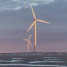 Windmill Farm Sunrise by Deb Fedeler