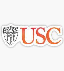 USC Watercolor Sticker