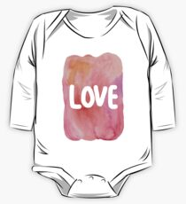 LOVE - watercolor painting typography One Piece - Long Sleeve