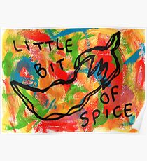 Life Is Spicy Sometimes - vegetable chili illustration colorful pop art Poster