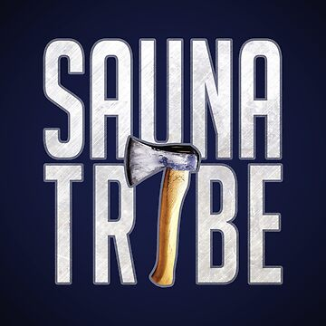 Sauna Tribe - Stacked Axe Wordmark by HARyosa