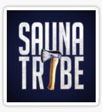 Sauna Tribe - Stacked Axe Wordmark Sticker