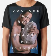 You Are My Rock Chiffon Top