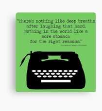 The Perks of Being a Typewriter Canvas Print