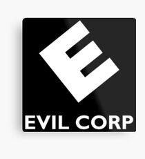 Evil Corp ~ White Metal Print