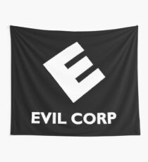 Evil Corp ~ White Wall Tapestry