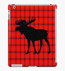 Moose: Rustic Red Plaid iPad Case/Skin