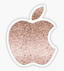 Apple rose gold glitter Sticker