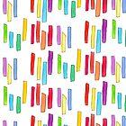 GLEICHBERECHTIGUNG!! - bunte Musterillustration von lennaarty