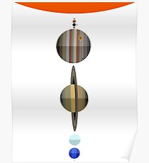 Solar system planets to scale  Poster