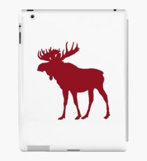 Moose: Rustic Red iPad Case/Skin