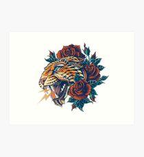 Ornate Leopard (Color Version) Art Print