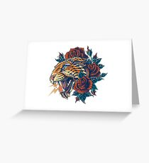 Ornate Leopard (Color Version) Greeting Card