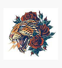Verzierter Leopard (Farbversion) Fotodruck