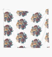 Ornate Leopard (Color Version) Wall Tapestry