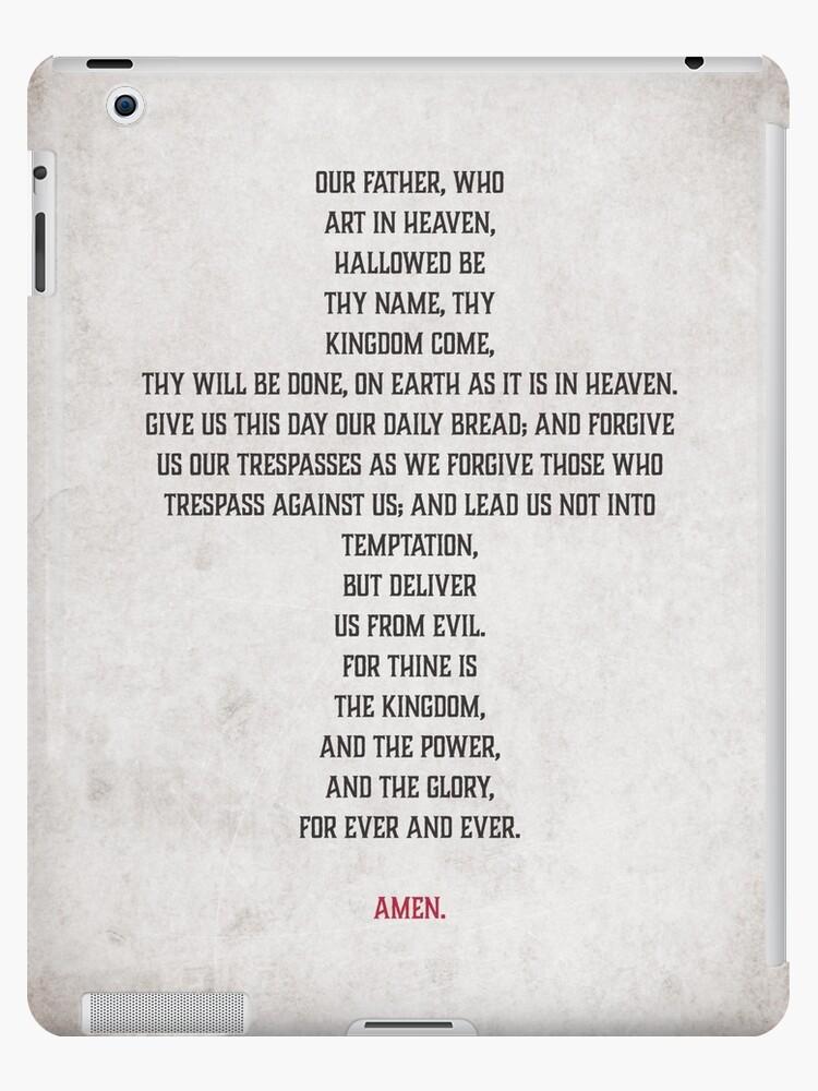 'The Lord's Prayer' iPad Case/Skin by AtomicDesignUS