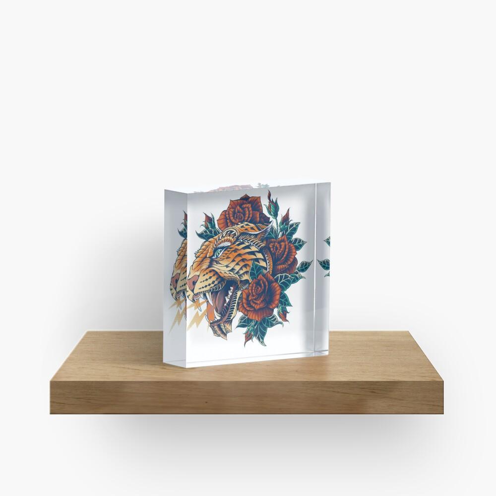 Ornate Leopard (Color Version) Acrylic Block