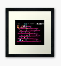 Donkey Kong retro game  Framed Print