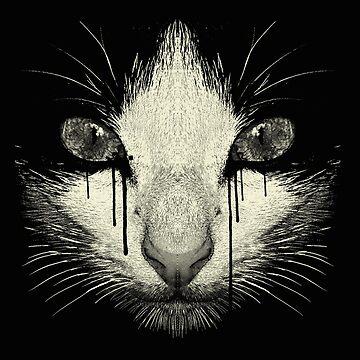 Inked Sad Cat by PhyllisHill