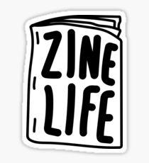 Zine Life Sticker