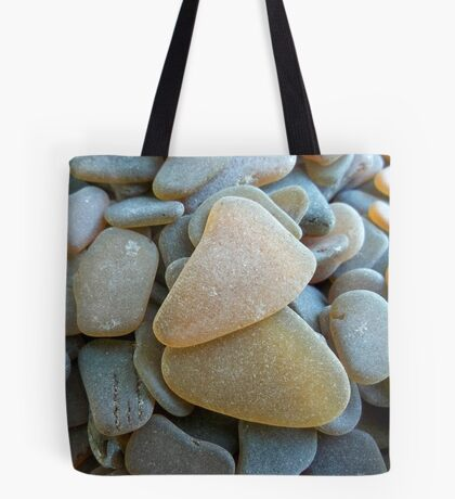 Honey Amber Sea Glass Pieces and Brown Pieces Tote Bag