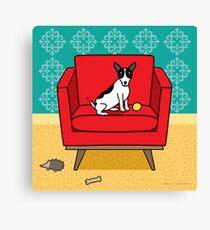 Rat Terrier Square Canvas Print