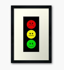 Moody  Stoplight Framed Print