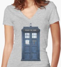 221b is Bigger on the Inside Women's Fitted V-Neck T-Shirt