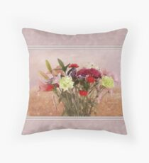 Bouquet in a Window ~ Painting Style Throw Pillow