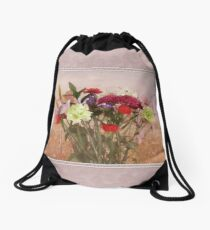 Bouquet in a Window ~ Painting Style Drawstring Bag