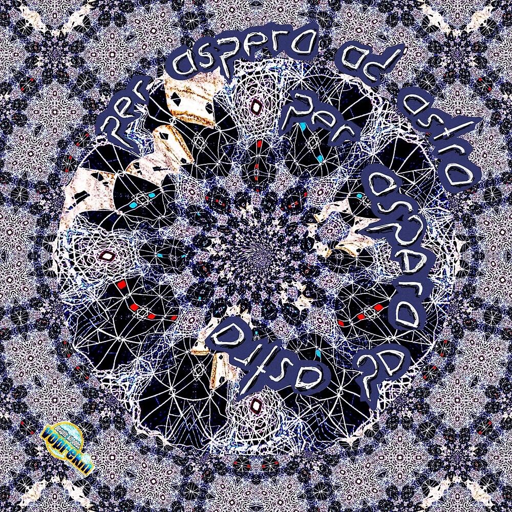 Per aspera ad astra fractal pattern by Linandara  by Linandara