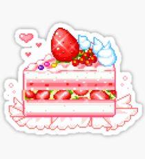 Strawberry Shortcake pixel art Sticker