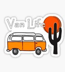 Van Life Camper Van Desert Scene Sticker