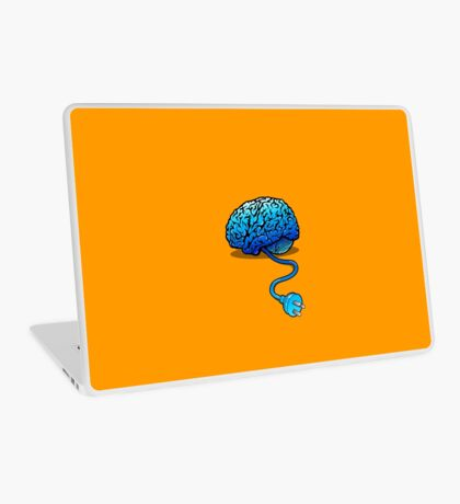 Your Brain without Coffee - Blue Laptop Skin