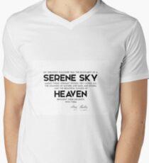 serene sky, heaven - mary shelley Men's V-Neck T-Shirt