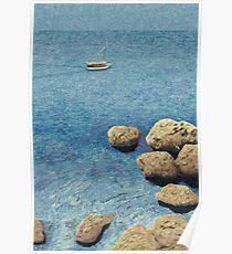 mediterranean sea (Antalya, Turkey) Poster