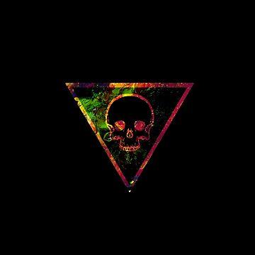 Neon Skull by Vagrantwanderer