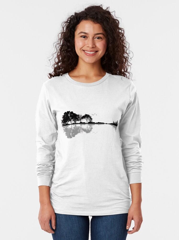 Alternate view of Nature Guitar Long Sleeve T-Shirt