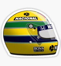 Ayrton Senna 1988 Helm - Aufkleber Sticker