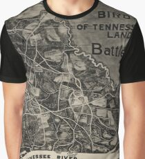 Vintage Map of The Shiloh Battlefield (1917) Graphic T-Shirt