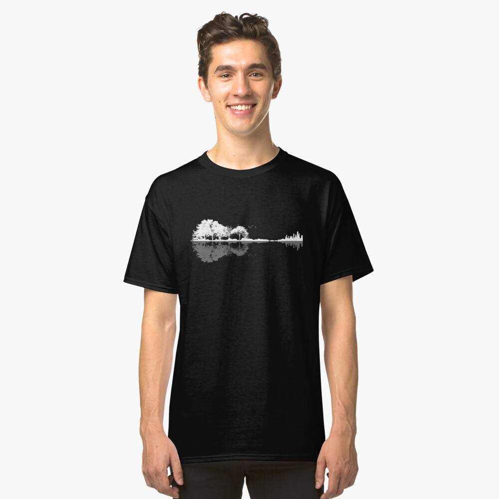 Natur Gitarre Classic T-Shirt Vorne