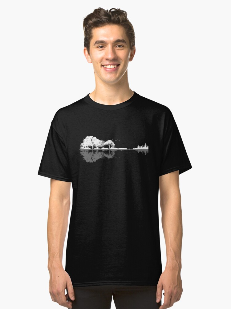 Alternate view of Nature Guitar  Classic T-Shirt